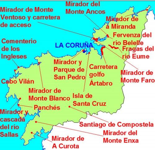 mapa coruña