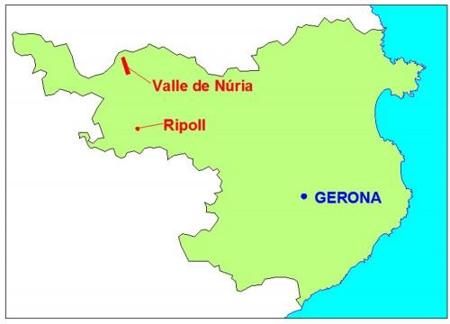 mapa gerona