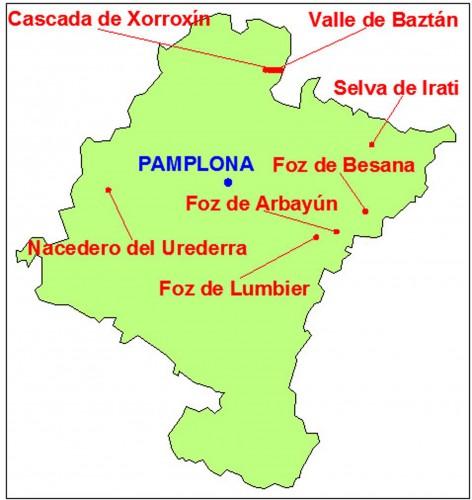 mapa navarra
