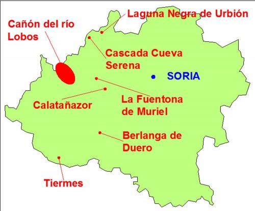 mapa soria